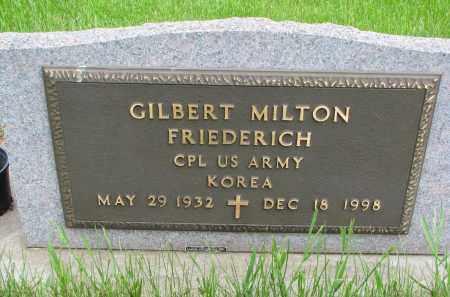 FRIEDERICH, GILBERT MILTON (MILITARY) - Hutchinson County, South Dakota | GILBERT MILTON (MILITARY) FRIEDERICH - South Dakota Gravestone Photos