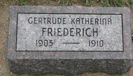 FRIEDERICH, GERTRUDE KATHERINA - Hutchinson County, South Dakota | GERTRUDE KATHERINA FRIEDERICH - South Dakota Gravestone Photos