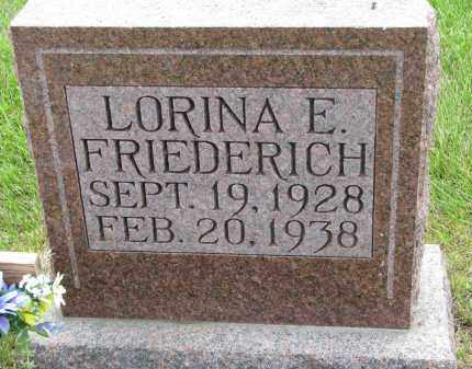 FRIEDERICH, LORINA E - Hutchinson County, South Dakota | LORINA E FRIEDERICH - South Dakota Gravestone Photos