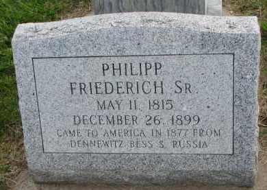 FRIEDERICH, PHILIPP SR - Hutchinson County, South Dakota | PHILIPP SR FRIEDERICH - South Dakota Gravestone Photos
