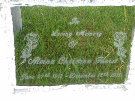FUERST, ALVINA CHRISTINA (CLOSEUP) - Hutchinson County, South Dakota | ALVINA CHRISTINA (CLOSEUP) FUERST - South Dakota Gravestone Photos