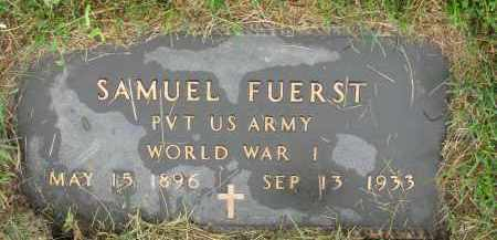 FUERST, SAMUEL (WWI) - Hutchinson County, South Dakota | SAMUEL (WWI) FUERST - South Dakota Gravestone Photos