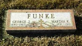 FUNKE, MARTHA - Hutchinson County, South Dakota | MARTHA FUNKE - South Dakota Gravestone Photos