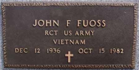 FUOSS, JOHN F (VIETNAM) - Hutchinson County, South Dakota | JOHN F (VIETNAM) FUOSS - South Dakota Gravestone Photos