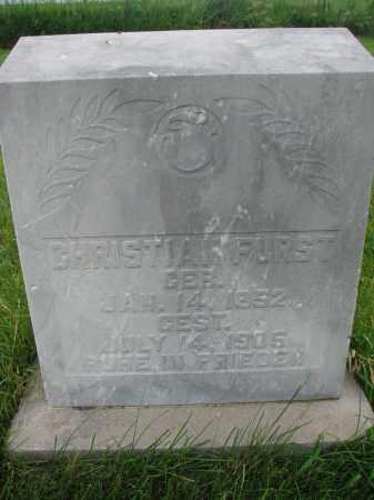 FURST, CHRISTIAN - Hutchinson County, South Dakota | CHRISTIAN FURST - South Dakota Gravestone Photos