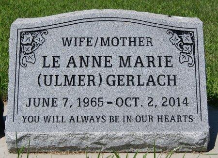 ULMER GERLACH, LE ANNE MARIE - Hutchinson County, South Dakota | LE ANNE MARIE ULMER GERLACH - South Dakota Gravestone Photos