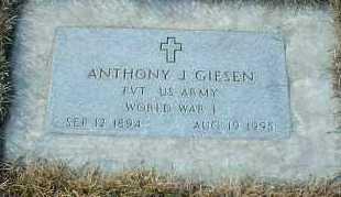 GIESEN, ANTHONY - Hutchinson County, South Dakota   ANTHONY GIESEN - South Dakota Gravestone Photos