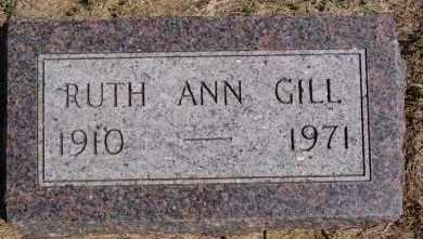 GILL, RUTH ANN - Hutchinson County, South Dakota | RUTH ANN GILL - South Dakota Gravestone Photos