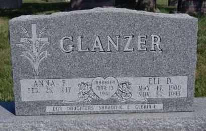 GLANZER, ELI D - Hutchinson County, South Dakota | ELI D GLANZER - South Dakota Gravestone Photos