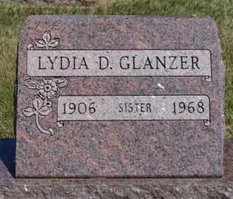 GLANZER, LYDIA D - Hutchinson County, South Dakota | LYDIA D GLANZER - South Dakota Gravestone Photos