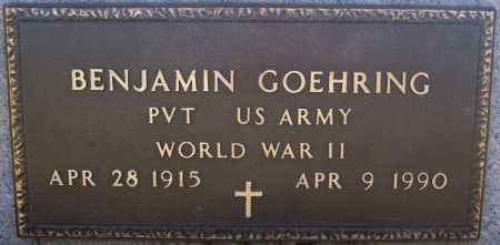 GOEHRING, BENJAMIN (WW II) - Hutchinson County, South Dakota | BENJAMIN (WW II) GOEHRING - South Dakota Gravestone Photos