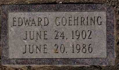 GOEHRING, EDWARD - Hutchinson County, South Dakota   EDWARD GOEHRING - South Dakota Gravestone Photos