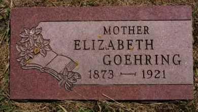 GOEHRING, ELIZABETH - Hutchinson County, South Dakota | ELIZABETH GOEHRING - South Dakota Gravestone Photos