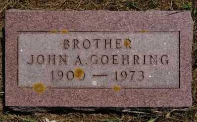 GOEHRING, JOHN A - Hutchinson County, South Dakota | JOHN A GOEHRING - South Dakota Gravestone Photos