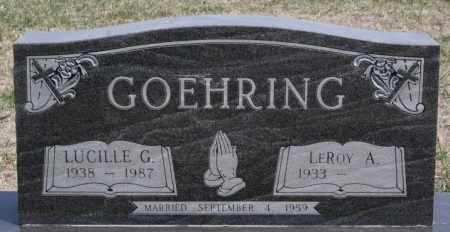 GOEHRING, LUCILLE G - Hutchinson County, South Dakota | LUCILLE G GOEHRING - South Dakota Gravestone Photos