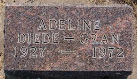 GRAN, ADELINE - Hutchinson County, South Dakota | ADELINE GRAN - South Dakota Gravestone Photos