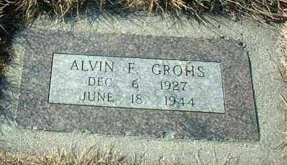GROHS, ALVIN - Hutchinson County, South Dakota | ALVIN GROHS - South Dakota Gravestone Photos