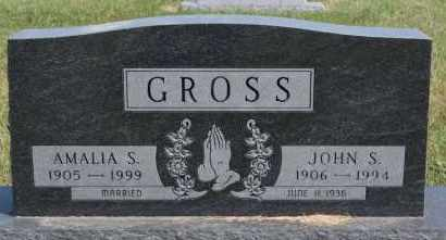 GROSS, JOHN S - Hutchinson County, South Dakota | JOHN S GROSS - South Dakota Gravestone Photos
