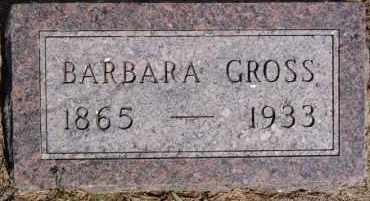 GROSS, BARBARA - Hutchinson County, South Dakota   BARBARA GROSS - South Dakota Gravestone Photos