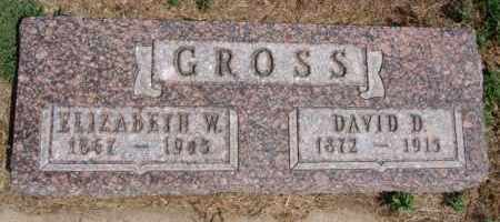 GROSS, ELIZABETH W - Hutchinson County, South Dakota | ELIZABETH W GROSS - South Dakota Gravestone Photos