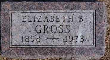 GROSS, ELIZABETH B - Hutchinson County, South Dakota   ELIZABETH B GROSS - South Dakota Gravestone Photos