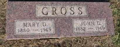 GROSS, MARY D - Hutchinson County, South Dakota | MARY D GROSS - South Dakota Gravestone Photos