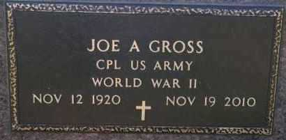 GROSS, JOE A (WWII) - Hutchinson County, South Dakota | JOE A (WWII) GROSS - South Dakota Gravestone Photos