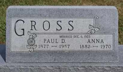 GROSS, ANNA - Hutchinson County, South Dakota | ANNA GROSS - South Dakota Gravestone Photos