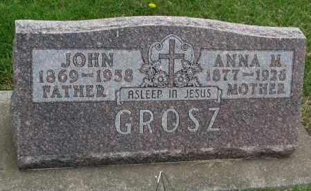 GROSZ, JOHN - Hutchinson County, South Dakota | JOHN GROSZ - South Dakota Gravestone Photos