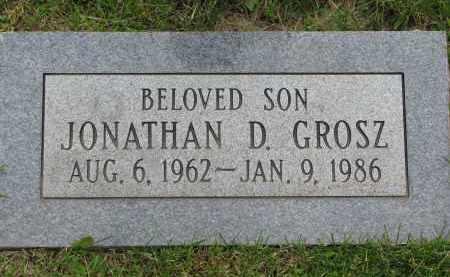 GROSZ, JONATHAN D. - Hutchinson County, South Dakota | JONATHAN D. GROSZ - South Dakota Gravestone Photos