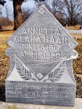 HAAR, ANNETTA CLARA - Hutchinson County, South Dakota   ANNETTA CLARA HAAR - South Dakota Gravestone Photos