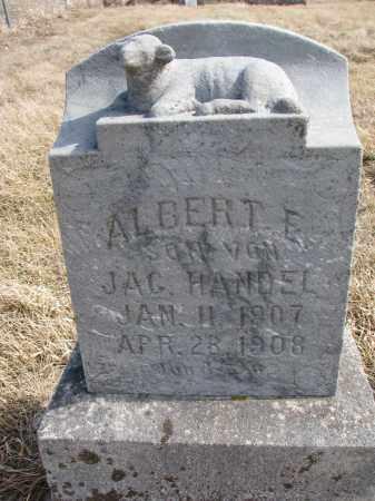 HANDEL, ALBERT E. - Hutchinson County, South Dakota   ALBERT E. HANDEL - South Dakota Gravestone Photos