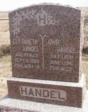 HANDEL, JOHN - Hutchinson County, South Dakota | JOHN HANDEL - South Dakota Gravestone Photos