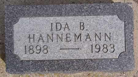 HANNEMANN, IDA B - Hutchinson County, South Dakota | IDA B HANNEMANN - South Dakota Gravestone Photos