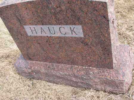 HAUCK, FAMILY MARKER - Hutchinson County, South Dakota   FAMILY MARKER HAUCK - South Dakota Gravestone Photos
