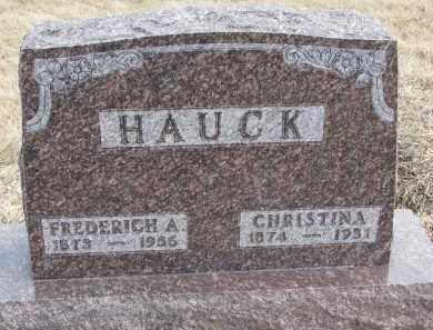 HAUCK, CHRISTINA - Hutchinson County, South Dakota   CHRISTINA HAUCK - South Dakota Gravestone Photos