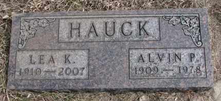 HAUCK, ALVIN P - Hutchinson County, South Dakota | ALVIN P HAUCK - South Dakota Gravestone Photos