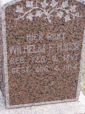 HAUCK, WILHELM F - Hutchinson County, South Dakota   WILHELM F HAUCK - South Dakota Gravestone Photos