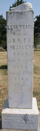 HEADLEY, LEVA PEARL - Hutchinson County, South Dakota | LEVA PEARL HEADLEY - South Dakota Gravestone Photos