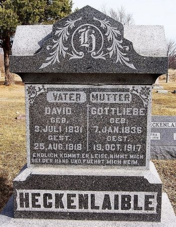 HECKENLAIBLE, DAVID - Hutchinson County, South Dakota | DAVID HECKENLAIBLE - South Dakota Gravestone Photos