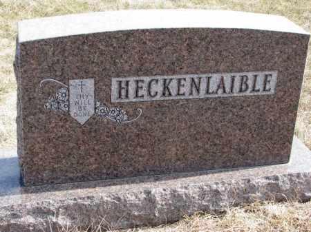 HECKENLAIBLE, FAMILY MARKER - Hutchinson County, South Dakota   FAMILY MARKER HECKENLAIBLE - South Dakota Gravestone Photos