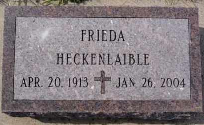 HECKENLAIBLE, FRIEDA - Hutchinson County, South Dakota | FRIEDA HECKENLAIBLE - South Dakota Gravestone Photos