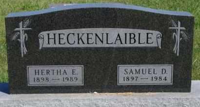 HECKENLAIBLE, SAMUEL D - Hutchinson County, South Dakota   SAMUEL D HECKENLAIBLE - South Dakota Gravestone Photos