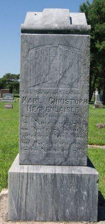HECKENLAIBLE, KARL CHRISTOPH - Hutchinson County, South Dakota | KARL CHRISTOPH HECKENLAIBLE - South Dakota Gravestone Photos