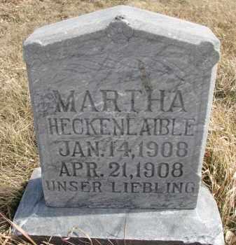 HECKENLAIBLE, MARTHA - Hutchinson County, South Dakota | MARTHA HECKENLAIBLE - South Dakota Gravestone Photos