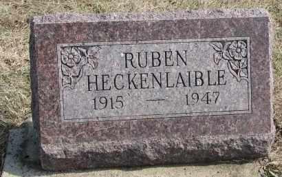 HECKENLAIBLE, RUBEN - Hutchinson County, South Dakota   RUBEN HECKENLAIBLE - South Dakota Gravestone Photos