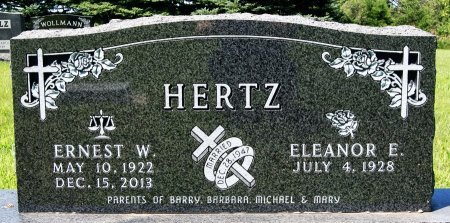 HERTZ, ELEANOR E. - Hutchinson County, South Dakota | ELEANOR E. HERTZ - South Dakota Gravestone Photos