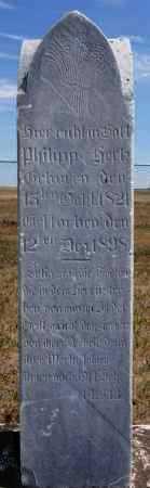 HERTZ, PHILLIP - Hutchinson County, South Dakota | PHILLIP HERTZ - South Dakota Gravestone Photos