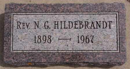 HILDEBRANDT, N G - Hutchinson County, South Dakota | N G HILDEBRANDT - South Dakota Gravestone Photos
