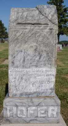 HOFER, BREDIGER - Hutchinson County, South Dakota | BREDIGER HOFER - South Dakota Gravestone Photos